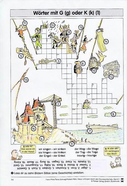Arbeitsblätter und Materialien
